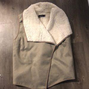 Mink pink faux/fur vest